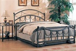 Queen Bed in Antique Brass Finish by Coaster - 300021Q