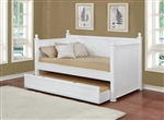 Trundle Daybed in White Semi Gloss Finish by Coaster - 300026