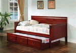Casey Trundle Daybed in Cherry Finish by Coaster - 300036CH