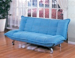 Sofa Bed in Blue Microfiber Cover by Coaster - 300048