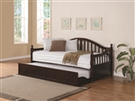 Traditional Daybed with Trundle in Cappuccino Finish by Coaster - 300090