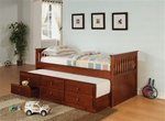 Trundle Daybed in Cherry Finish by Coaster - 300105