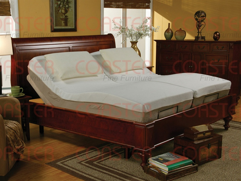 Queen Size Adjustable Bed with Massage and Wireless Remote by