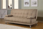 Tan Microfiber Sofa Bed by Coaster - 300147