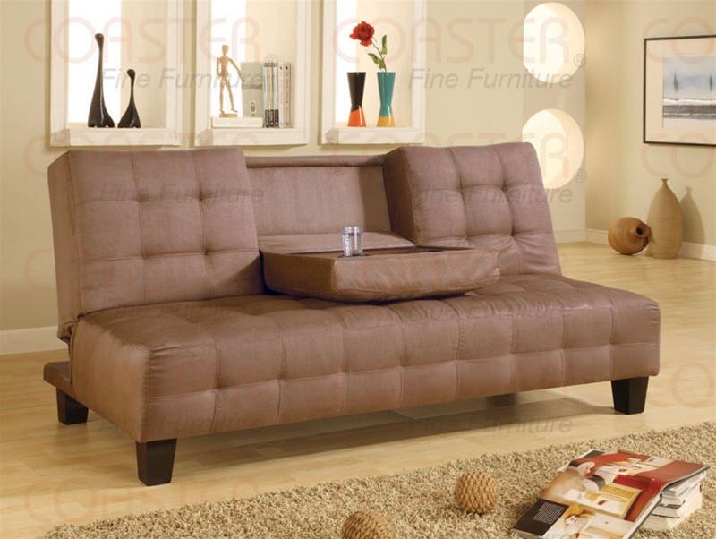 Tan Microfiber Sofa Bed By Coaster   300154