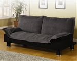 Gray Microfiber Sofa Bed by Coaster - 300177