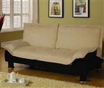 Beige Microfiber Sofa Bed by Coaster - 300178