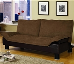 Brown Microfiber Sofa Bed by Coaster - 300179