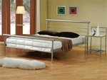 Queen Bed in Silver Metal Finish by Coaster - 300181Q