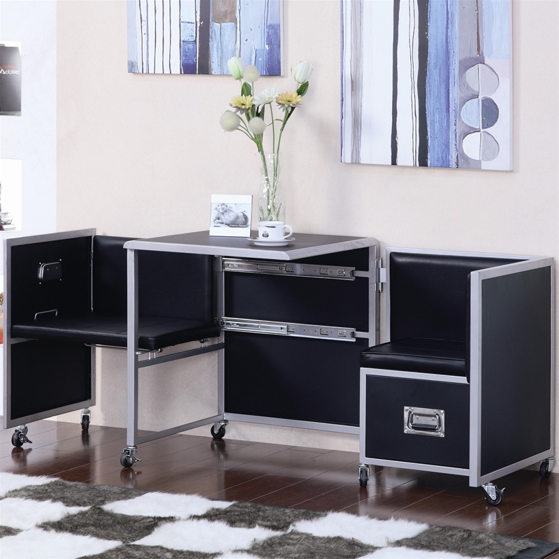 Leclair Piece Black And Metal Youth Bedroom Set By Coaster