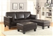 Ellesmere 3 Piece Sofa Bed in Dark Brown Leatherette Upholstery by Coaster - 300204