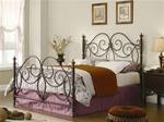 Queen Bed in Dark Bronze Finish by Coaster - 300258Q
