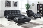 Dilleston Sofa Bed in Black Leatherette Upholstery by Coaster - 300281