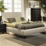 Phoenix Platform Upholstered Bed by Coaster - 300369Q