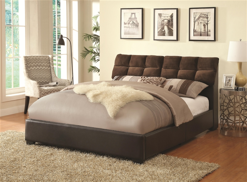 tilley upholstered queen bed with storage headboard by coaster, Headboard designs