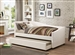 Cramer Trundle Daybed in Ivory Leatherette by Coaster - 300509