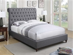 Devon Grey Fabric Upholstered Bed by Coaster - 300527Q