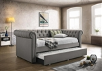 Kepner Trundle Daybed in Grey Fabric by Coaster - 300549