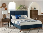 Charity Blue Fabric Upholstered Bed by Coaster - 300626Q