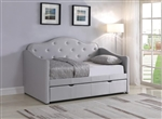 Elmore Trundle Daybed in Grey Leathrette by Coaster - 300629