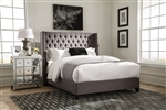 Benicia Grey Fabric Upholstered Bed 2 Piece Set by Scott Living - 300705Q-2
