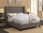 Benicia Grey Fabric Upholstered Bed by Scott Living - 300705Q