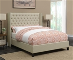 Benicia Beige Fabric Upholstered Bed by Scott Living - 300706Q