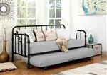 Marina Trundle Daybed in Black Metal Finish by Coaster - 300765