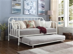 Marina Trundle Daybed in White Metal Finish by Coaster - 300766