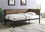 Getler Daybed in Weathered Chestnut and Black Metal Finish by Coaster - 300836