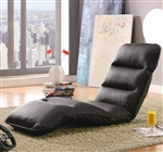 Brown Vinyl Lounge Chair by Coaster - 301004