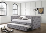 Mockern Trundle Daybed in Grey Fabric by Coaster - 302161