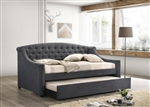 Penfield Trundle Daybed in Grey Fabric by Coaster - 305911