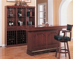 Lambert Traditional Bar Unit with Sink in Cherry Finish by Coaster - 3078