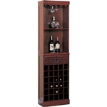 Lambert Traditional Wine Wall Unit in Cherry Finish by Coaster - 3080-1