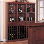Lambert Traditional Wine Wall Unit in Cherry Finish by Coaster - 3080