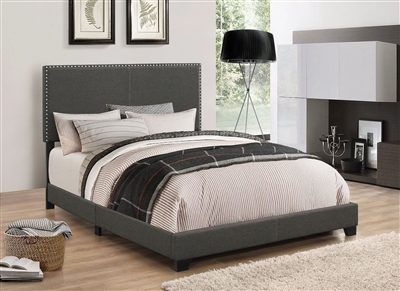 Boyd Charcoal Fabric Bed by Coaster - 350061-K