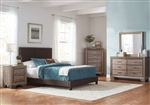 Kauffman Fabric Bed 6 Piece Bedroom Set in Washed Taupe Finish by Coaster - 350081