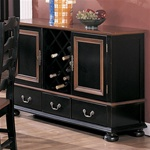 Two Tone Server in Black and Dark Maple Finish by Coaster -3861