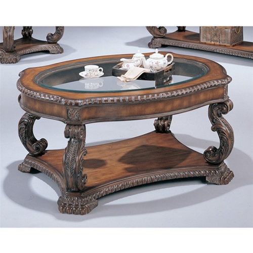 - Antique Finish Coffee Table By Coaster - 3892