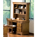 Louis Philippe Youth Computer Desk with Hutch in Warm Light Brown Finish by Coaster - 400057