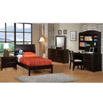 4 Piece Phoenix Collection Bedroom Furniture Set with Platform Bed in Rich Deep Cappuccino Finish by Coaster - 400181