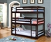 Sandler Triple Twin Bunk Bed in Cappuccino Finish by Coaster - 400302