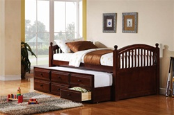 Captain's Bed in Cappuccino Finish by Coaster - 400381T
