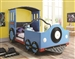 Twin Train Bed in Blue Finish by Coaster - 400411