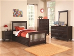 Oliver 4 Piece Youth Bedroom Set in Cappuccino Finish by Coaster - 400601