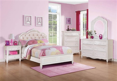 Caroline 4 Piece Youth Bedroom Set in White Finish by Coaster - 400720T