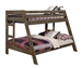 Wrangle Hill Twin Over Full Bunk Bed in Gun Smoke Finish by Coaster - 400830