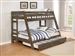 Wrangle Hill Twin Over Full Bunk Bed 3 Piece Set in Gun Smoke Finish by Coaster - 400830-T