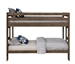 Wrangle Hill Twin Over Twin Bunk Bed in Gun Smoke Finish by Coaster - 400831